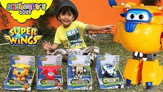 SUPER WINGS toys for children - Playtime with airplane toys kids Transforming Jett Donnie Paul Bello