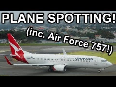 Plane Spotting at Wellington Airport | 26/1/2018 | Inc. Air Force 757!