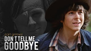 (TWD) Carl Grimes || Don't Tell Me Goodbye