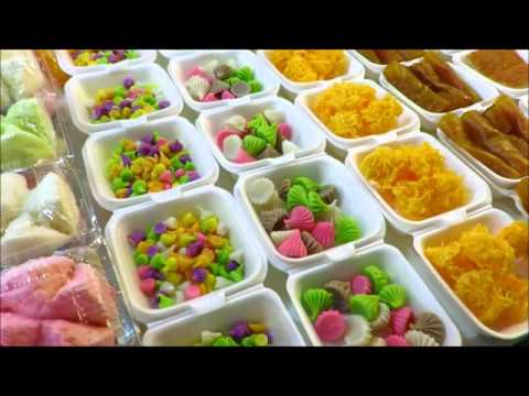 Thai street food BEST THAI SWEETS CANDY Phuket night market Thailand trip travel recipe asia