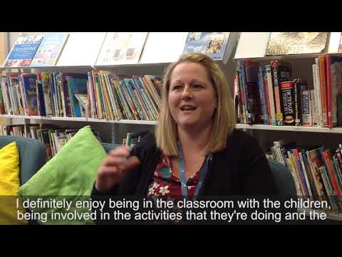 Louise, a teaching assistant, talking about her apprenticeship