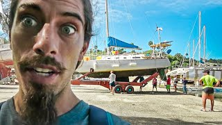 You'll be SHOCKED to see what happens when we haul out! Ep.62