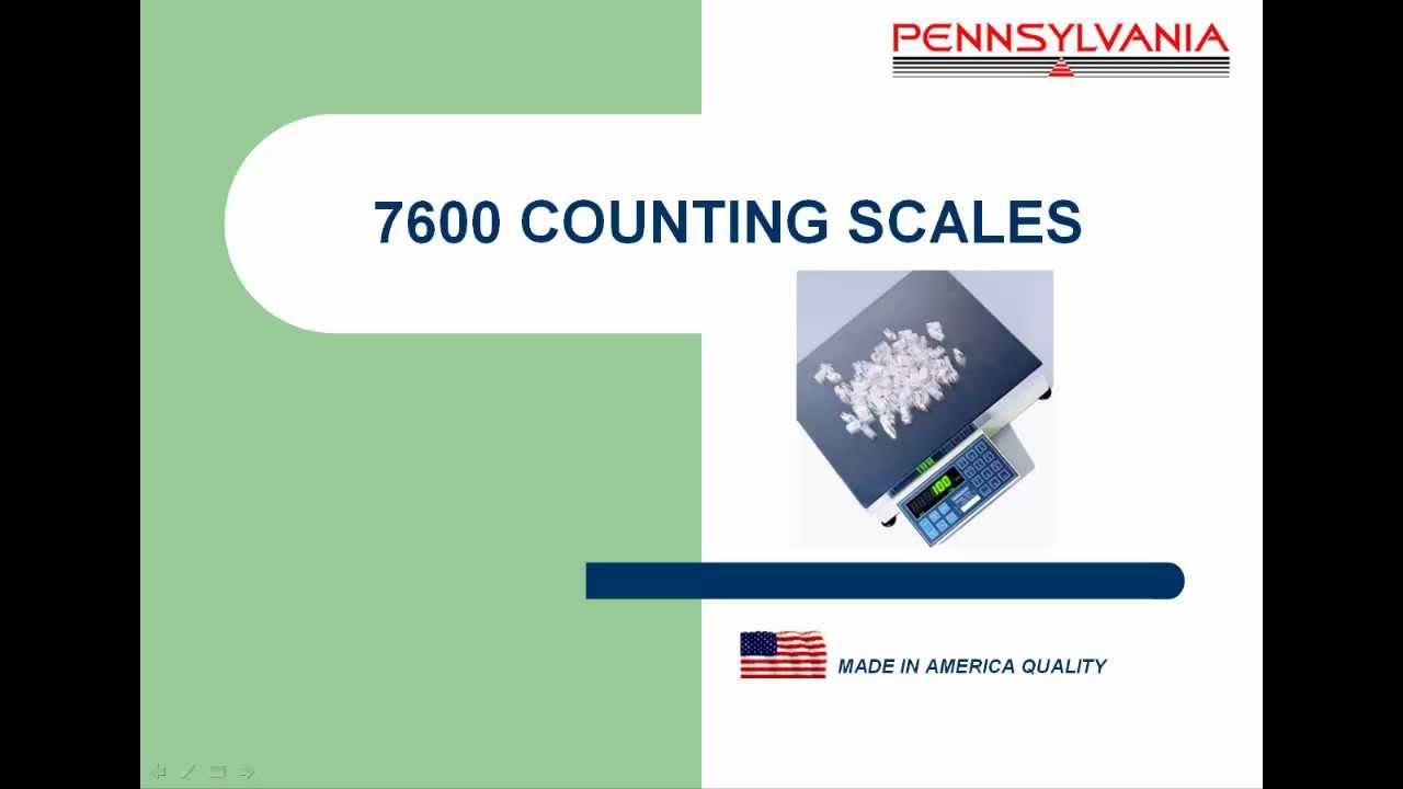 pennsylvania 7600 counting scale youtube rh youtube com