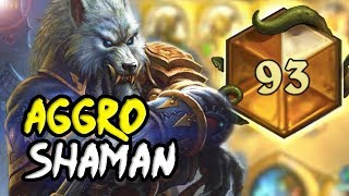 Top 100 Legends - Wild Odd Aggro Shaman - Hearthstone The Witchwood