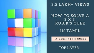 3*3 Rubik's Cube Solution in Tamil; Easiest; HD (Part 3.1 of 3); How to solve a 3x3 Cube in Tamil