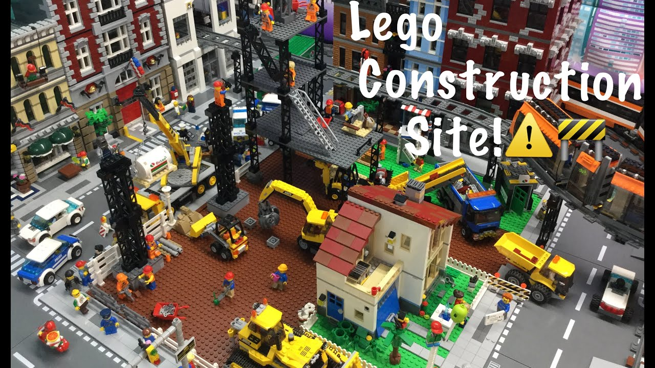 lego construction site youtube. Black Bedroom Furniture Sets. Home Design Ideas
