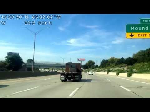Driving from Sterling Heights, Michigan to Dearborn Heights, Michigan