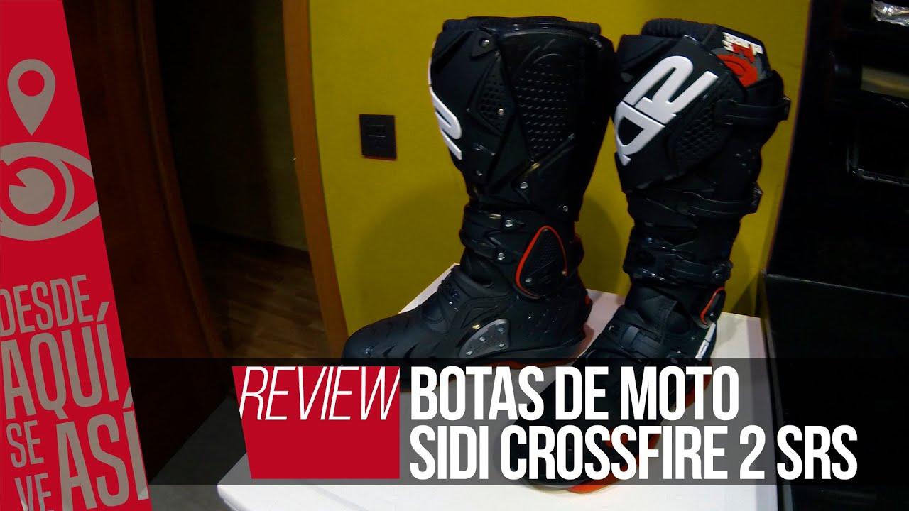 c68fcb4d3f803 Botas de moto Sidi Crossfire 2 SRS - YouTube