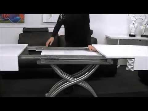 Table basse modulable twinga youtube - Table basse relevable extensible conforama ...