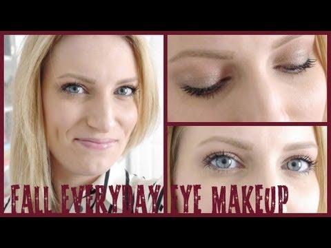 Quick Everyday Fall/Autumn Eye Makeup Tutorial