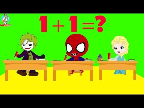 Spiderman Papa Troll in SCHOOL Superheroes Frozen Elsa Joker Maleficent Cartoon Superhero fun