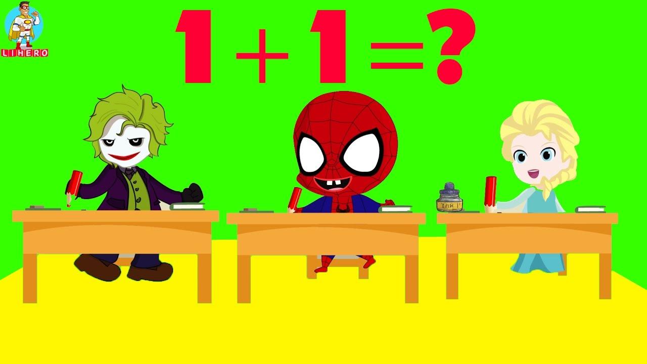 spiderman papa troll in school superheroes frozen elsa joker