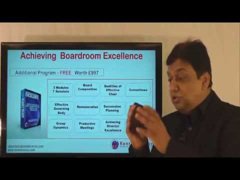 Boardroom Excellence- Directors Training Program Exclusively for India