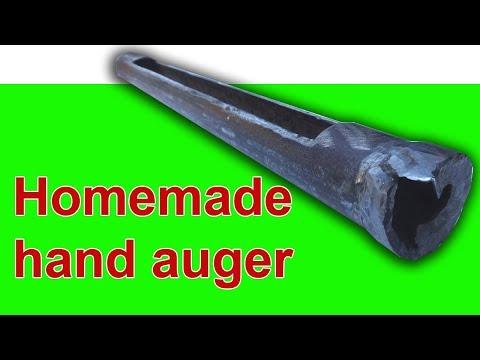 Homemade Hand Auger For Drilling Soil
