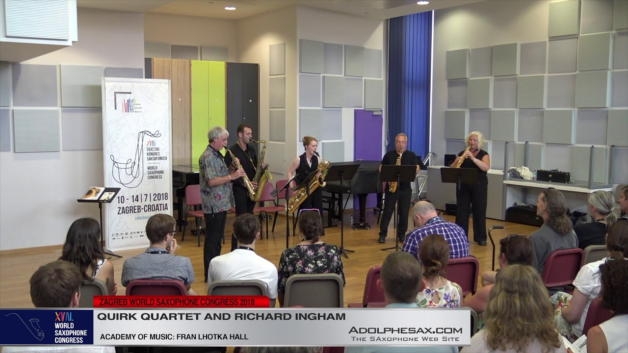 Fanfare by Richard Ingham   Quirk Quartet & Richard Inghan   XVIII World Sax Congress 2018 #adolphes