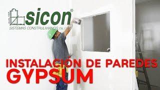 Instalación de paredes interiores de gypsum