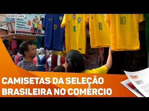 Camisetas da seleção brasileira no comércio - TV SOROCABA/SBT