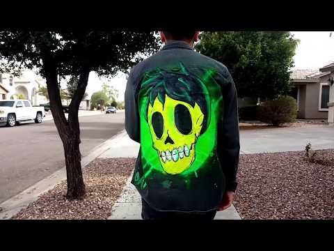 """Fluorescent Death"" -Jacket Painting Process"
