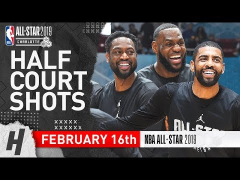Team LeBron Half Court Shots Contest | February 16, 2019 NBA All-Star Practice