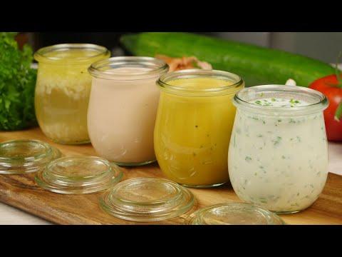 Salatdressings 4 Varianten I Klassische Basis Rezepte für Salatdressing