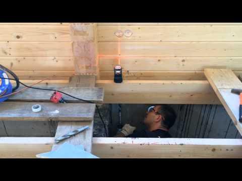видео: Электромонтаж бани. Скрытая проводка. Розетки. Технология.