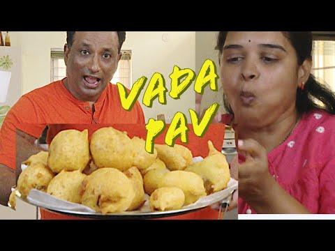 home-vada-pav- -easy-mumbai-street-style-vada-pav-bhaji- -batata-vada- -vada-pav-dry-garlic-chutney
