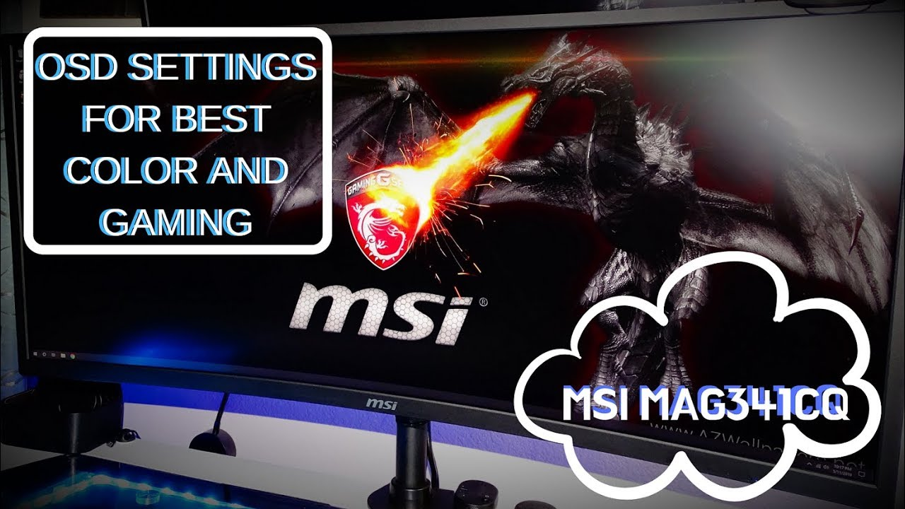 MSI MAG341CQ ((Best Color and GAMING Settings))
