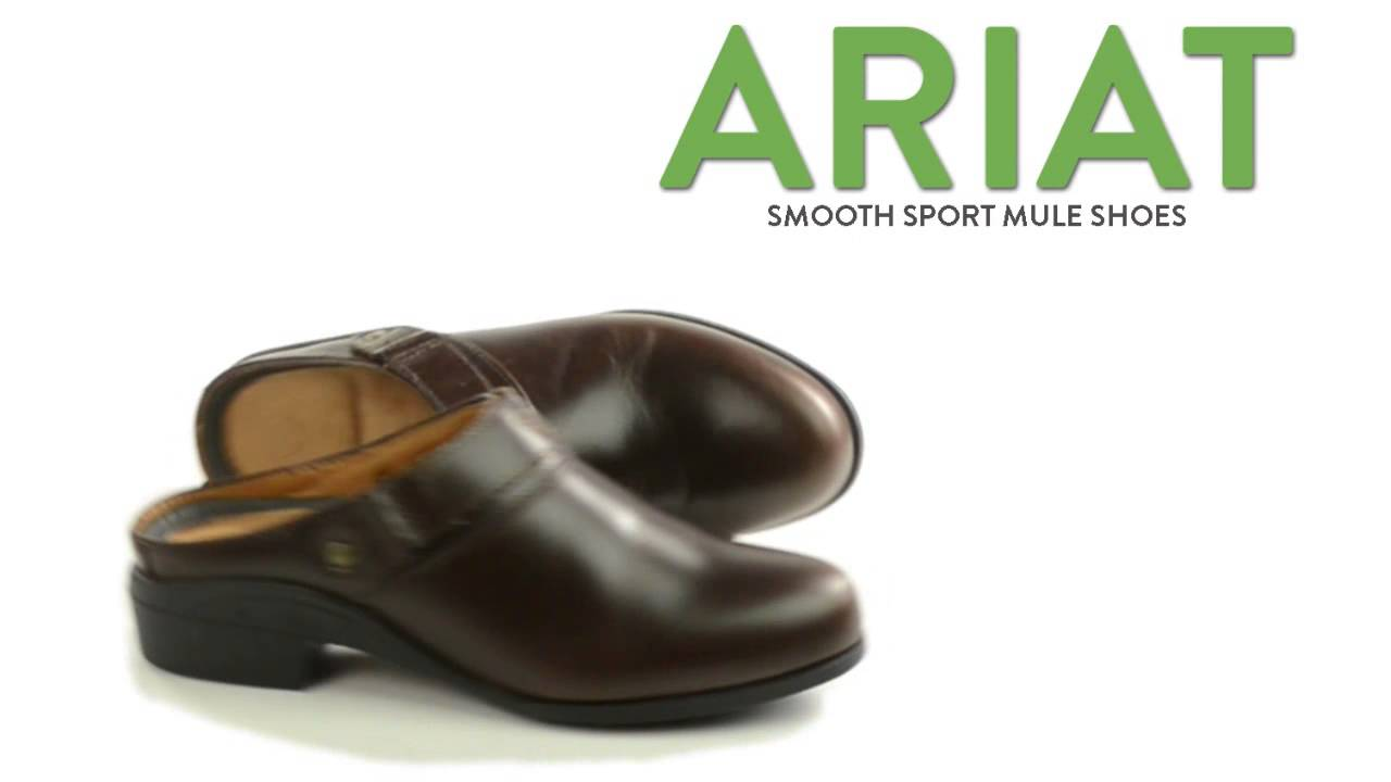 b85ffc8745e Ariat Smooth Sport Mule Shoes - Leather (For Women) - YouTube