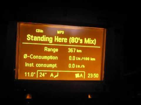 Секретное меню Opel Astra H без магнитолы