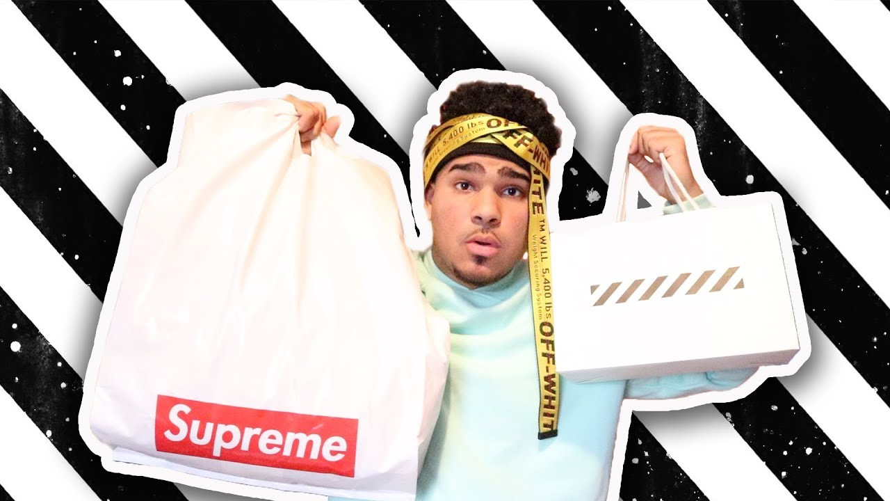dab266140465 CRAZY HYPEBEAST CLOTHING HAUL (SUPREME   OFF-WHITE) - YouTube