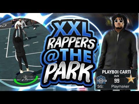 XXL RAPPERS: PLAYBOI CARTI x XXXTENTACION x PNB ROCK @ THE PARK  NBA 2K17 MYPARK  RAPPER DEMIGODS