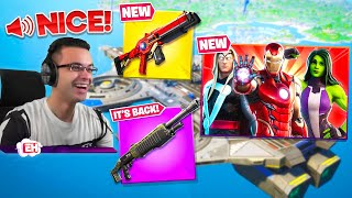 Nick Eh 30's FIRST REACTION to Fortnite Season 4! (Chapter 2)