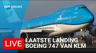 LIVE: LAST ARRIVAL KLM BOEING 747-400 AT SCHIPHOL AIRPORT