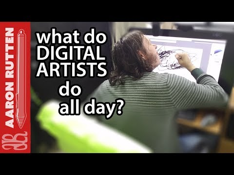 What Do DIGITAL ARTISTS Do All Day?