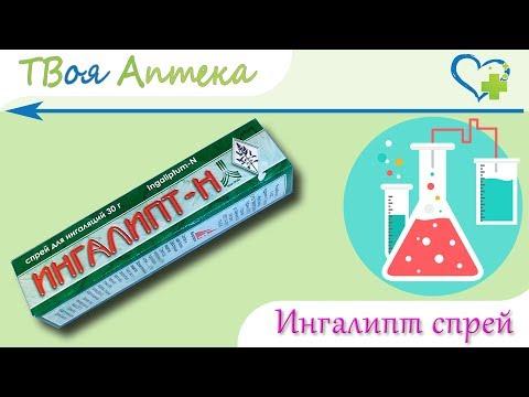 Ингалипт спрей - показания (видео инструкция) описание, отзывы - Сульфаниламид, Сульфатиазол