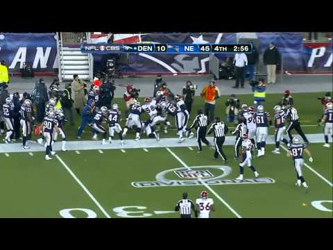 3rd down punt, Patriots-Broncos 2011 playoffs