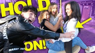 THE GIRLS TRY OUR HOUSE'S NEW TREE SWING!! (FREAKOUT)