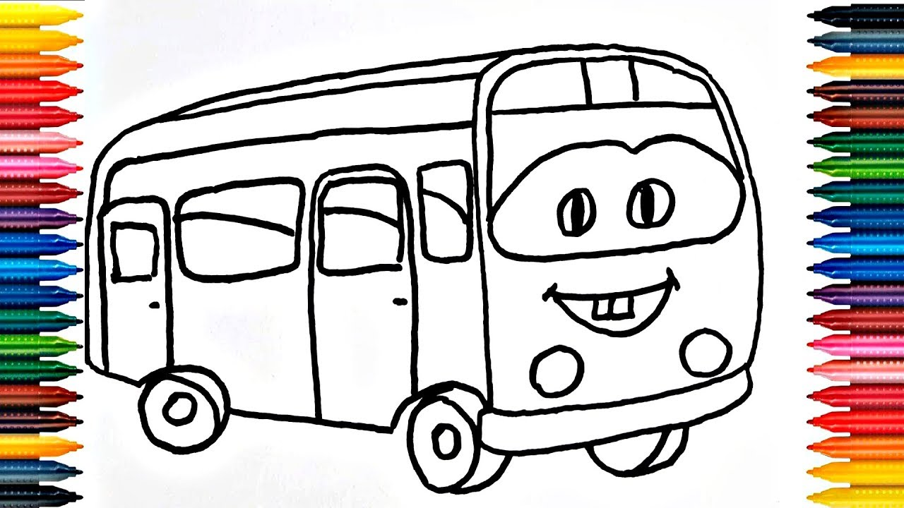 Colours For Kids School Bus Coloring Pages How To Color School Bus ...