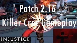 Injustice Gods Among Us iOS - Patch 2.16 Killer Croc Gameplay