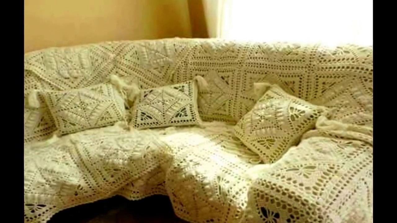 Cobertor de sillon tejido a crochet ganchillo - YouTube