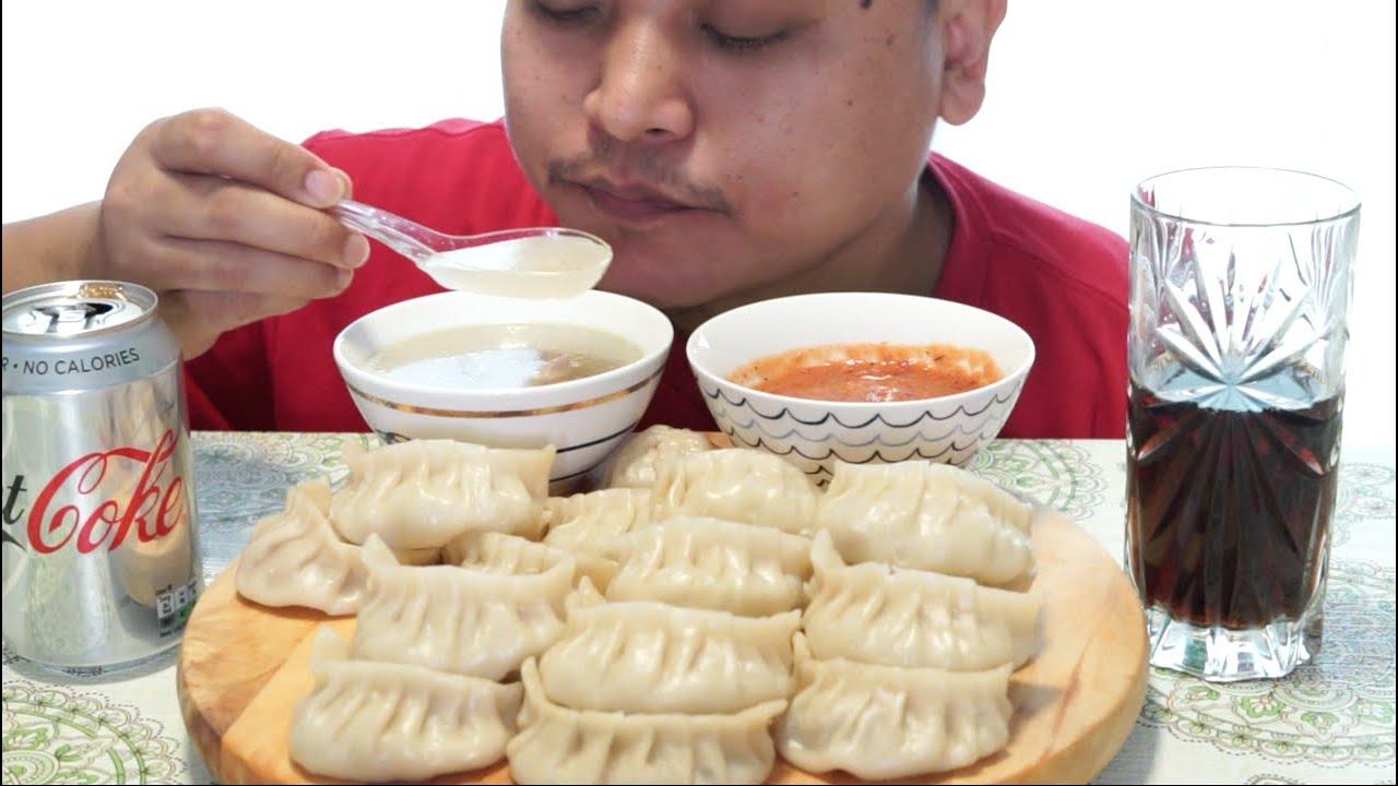 Download Pork Momos Dumpling Chicken Soup Spicy Chutney Mukbang Nepali Homemade #nepalifood #mukbang ep 1