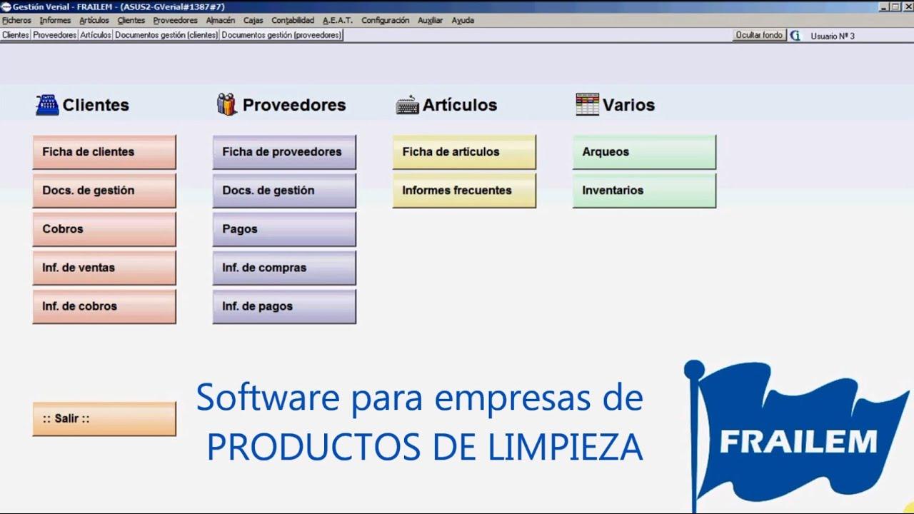Software para empresas de venta de productos de limpieza for Empresas de limpieza en castellon