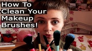 How To Clean Your Makeup Brushes! | Helena.