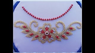 Hand embroidery /hand embroidery design with beads