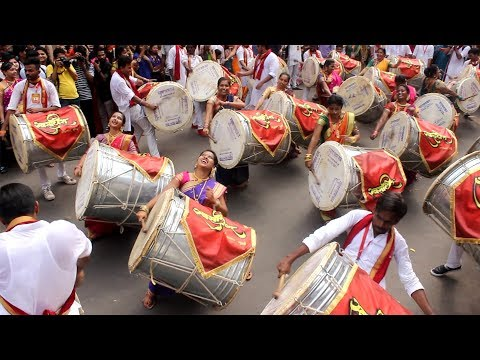 Swaradhish Dhol Tasha Pathak 2018 at Gudi Padwa | Mumbai Attractions