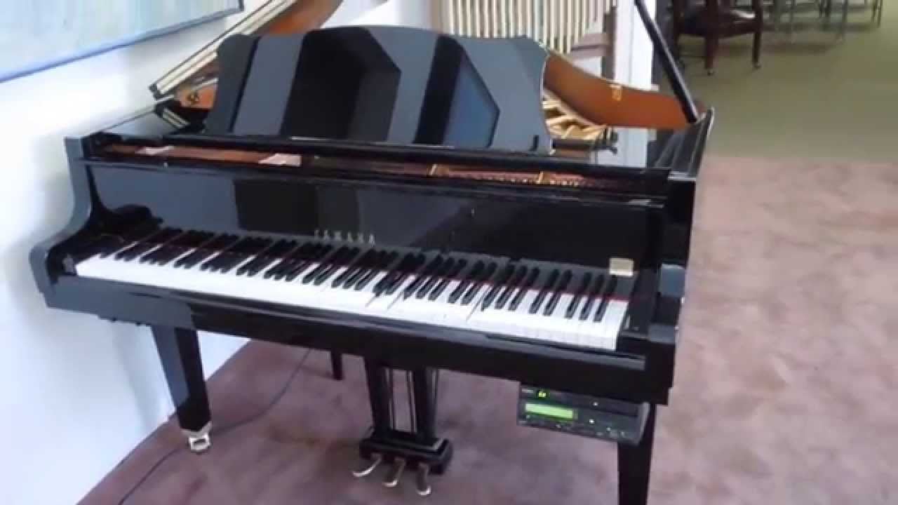 Yamaha disklavier player baby grand piano for sale youtube for Yamaha grand pianos for sale