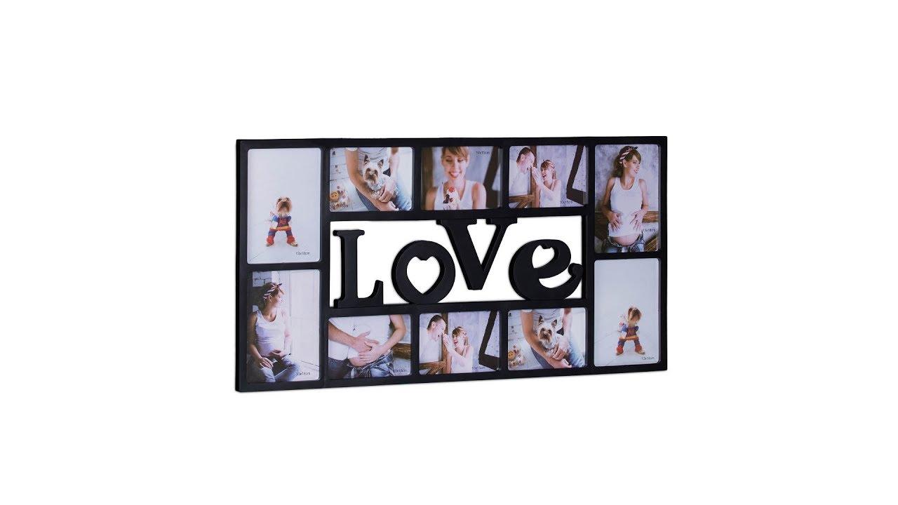 Bilderrahmen LOVE für 10 Fotos - YouTube