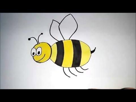 Ari Nasil Cizilir How To Draw Bee Youtube