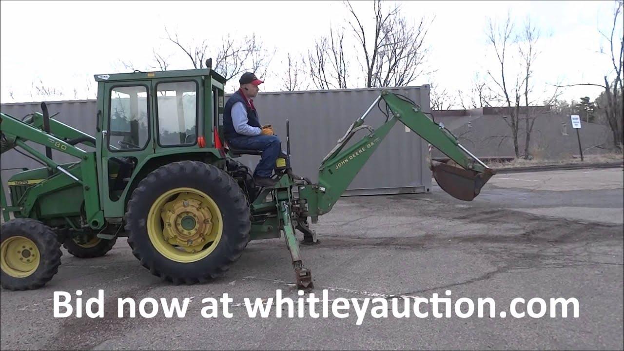John Deere 8A Backhoe Attachment Sells At Auction