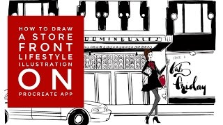 How To Draw a Store Front NYC Bloomingdale